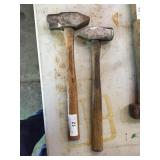 (2) BLACKSMITH HAMMERS