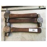 (3) BLACKSMITH HAMMERS