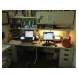 Desk & Metal Cabinets