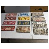 Vintage License Plate Collection