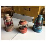 (3) Vintage Kerosene Oil Lamps