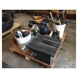 Pallet with Assorted Tools, Table Saw & Misc.....