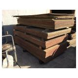 Pallet with Assorted Sized Concrete Forms