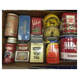Flat of Vintage Tins