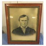 Antique Picture Frame w/  old Portrat