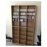 6 foot CD/tDVD stand with cCassette tapes