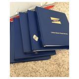 Five binders of United States Postal Service