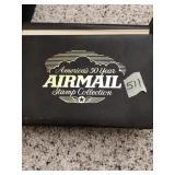 Americas 50 year air mail stamp collection
