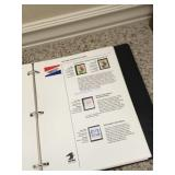 1 inch binder of US postal stamp collections