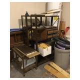 24 foot metal shelves, rolling cart, VHS holders