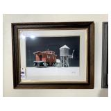 Original George Sperl Watercolor of Train Scene