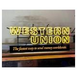 Western Union Neon Sign