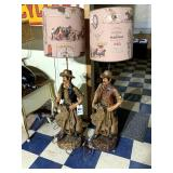 Two Large Cowboy Lamps