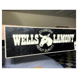 Wells Lamont  Masonite Sign
