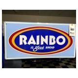 Rainbo Red Enamel Sign
