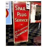 Champions Spark Plug Service Tin Sign
