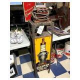 Champion Spark Plug Tester Machine w/ Tin Sign
