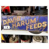 David Harum Feeds Tin Sign