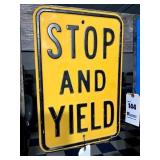 Stop and Yield Sign