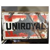 "Uniroyal Sign - 33.5"" x 19.5"""