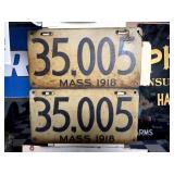 2 - 1918 Massachusetts License Plates