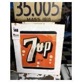 """Metal 7-UP Sign, 15"""" x 17"""""""