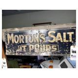 """Old Enamel Morton Salt Sign - 27.5"""" x 9.5"""""""