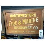 Northwestern Fire & Marine Insurance Wooden Sign