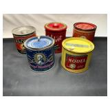 5 Tobacco Cans
