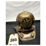 Miniature Replica Copper & Brass Diving Helmet