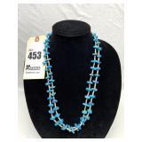 2 Stranded Bead & Polished Turquoise Necklace