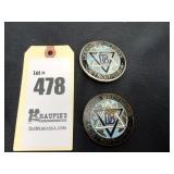 2 Dodge Brothers Detroit, USA Emblems