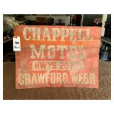 Chappell Motel Crawford Nebr. Sign