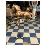 Copper & Brass Horse Weathervane with Stand