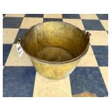 """Large Brass Tub with bail, 19"""" diameter"""