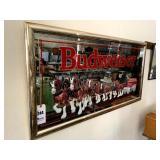 "Budweiser Framed Advertising Mirror - 51"" x 26"""