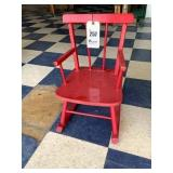 """Little Red Rocking Chair - 19"""""""