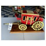 Wooden Stagecoach Miniature Replica