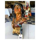 Cigar Store Display Indian Bust
