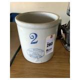 No. 2 Western Pottery Crock with turkey track