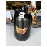Owens-Illinois Painted Glass Water Bottle