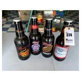 4 Big Glass Budweiser Bottles