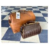 2 Old Leather Satchels