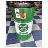 30 Gallon Quaker State Lubricant Barrel