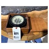 E. M. Sherman Lifeboat Compass in Wooden Box