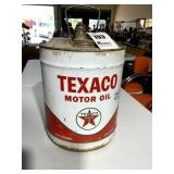 Texaco Motor Oil Can, 5 gal.