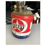 Derby Oil Company Oil Can, 5 gal.