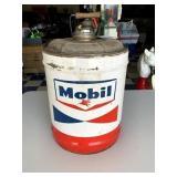Mobil Lubrite Motor Oil Can, 5 gal.