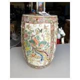 Chinese Garden Porcelain Seat with Bird Design