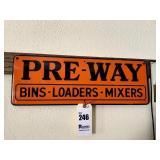 """Pre-Way Sign - 21.5"""" x 7.5"""""""
